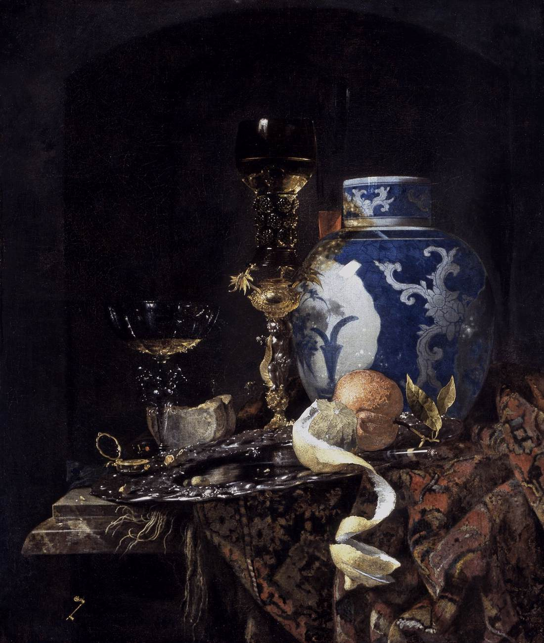 Willem Kalf still life with late ming ginger jar jobb