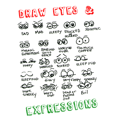 drawingeyesfacialexpressionscartooning